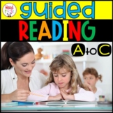 Guided Reading Levels A - C BUNDLE 20% OFF | Word Work | Comprehension