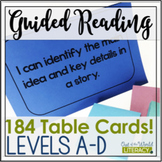 Guided Reading Levels A-D: JUST the 'I Can' Cards