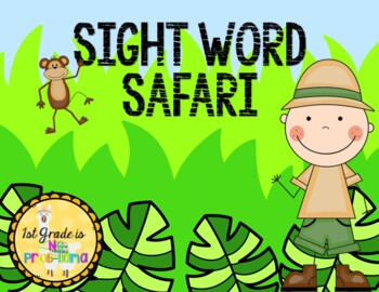 Guided Reading Levels A/B Sight Word Safari