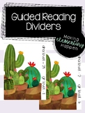 Guided Reading Levels Dividers - Cacti