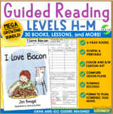 Guided Reading Levels H-M Growing MEGA Bundle: 30 Books and Lessons-Grab and Go!
