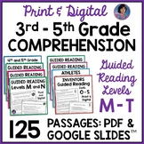 3rd Grade Reading Comprehension Passages & Questions Guided Reading Levels M - T