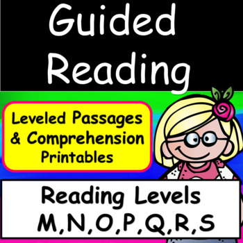 Guided Reading Levels M,N,O,P Q R,S Bundle: Comprehension Printables