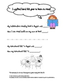 End of the year- Guided  Reading Level Progress Note