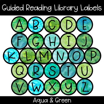 Guided Reading Library Labels - Aqua & Green