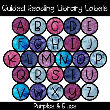 Guided Reading Library Labels - Purples & Blues
