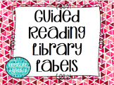 Guided Reading Library Tags in Coral and Pink