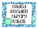 Guided Reading Library Tags in Teal and Blue