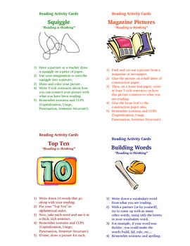 Guided Reading Activities Comprehension