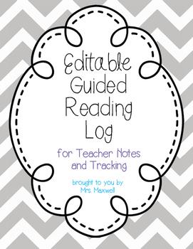 Editable Guided Reading Log