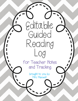Editable Guided Reading Log