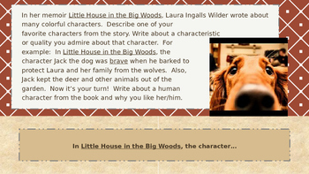 Little House in the Big Woods ~ Five Lovely Reading Responses