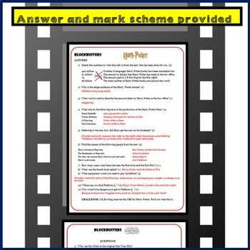 Guided Reading - MOVIE BLOCKBUSTERS - Harry Potter, Jaws, James Bond, Star Wars!