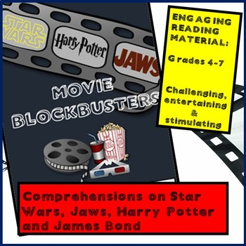 Reading comprehensions for Movie Blockbusters - Star Wars, Potter, Bond, Jaws