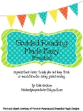 Guided Reading Made Easy {Organization Forms} FREEBIE!