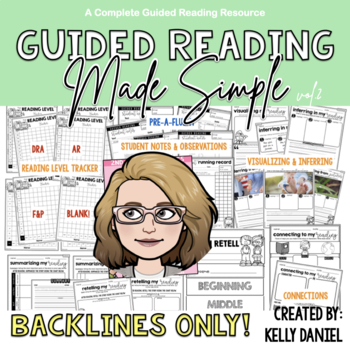Guided Reading Made Simple {PT 2} Blacklines Only
