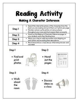 Guided Reading: Making A Character Inference Before Reading Printable