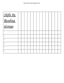Guided Reading Management in Word Format