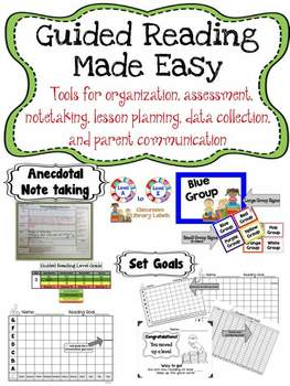 Guided Reading Materials BUNDLE for Organizing, Planning, and Documenting