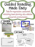 Guided Reading Materials BUNDLE for Organizing, Planning,