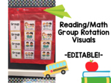 Guided Reading/Math Group Rotation Visuals- Editable!