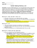 Guided Reading Meeting Requirements