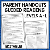 Guided Reading Meets the Common Core: Parent Handout for Guided Reading Level G