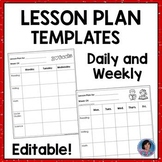 Daily & Weekly Lesson Plan Templates Editable: Ideal for Home Learning Packets