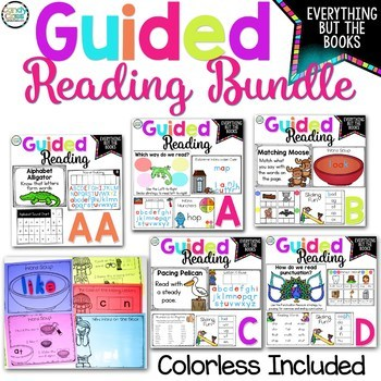 Guided Reading Bundle with Lesson Plans & Word Work Activities for Levels AA-D