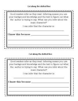 Guided Reading Mini Book for Independent Work Time *Fiction and Nonfiction*