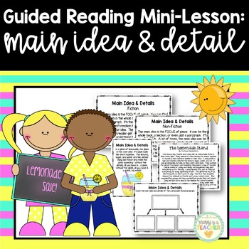 Guided Reading Mini-Lesson: Main Idea & Details (3rd/4th/5th/6th Grades)