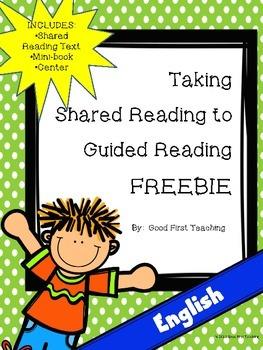 Guided Reading Mini-book, Center FREEBIE