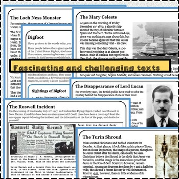 Guided Reading - Mysteries of the World