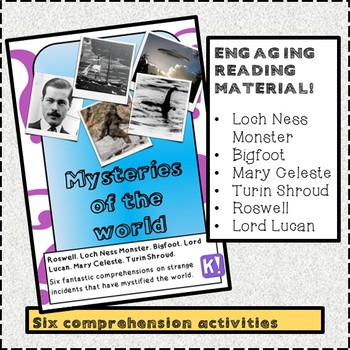 Reading Comprehension Package - Mysteries of the World