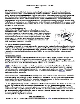 Guided Reading: Native American History 1830-1925