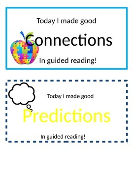 Guided Reading Necklaces