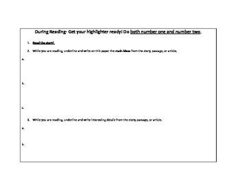 Guided Reading Non Fiction ELL ESL Reading Strategies Prediction Summary