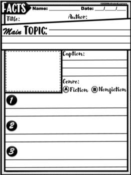 NonFiction Graphic Organizers