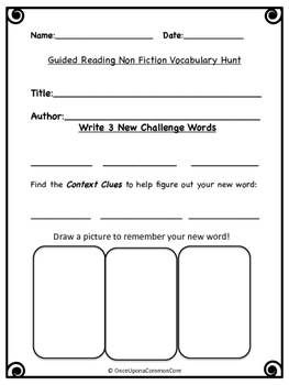 Guided Reading NonFiction worksheet