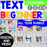 Reading Comprehension Text Evidence for Beginners Bundle: Digital and Print