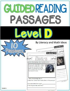 Guided Reading Nonfiction Passages Level D