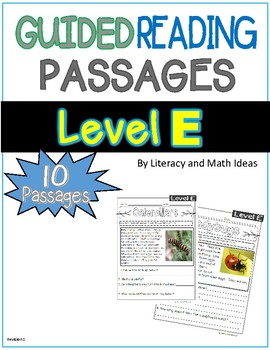 Guided Reading Nonfiction Passages Level E