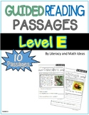 Guided Reading Nonfiction Passages Level E