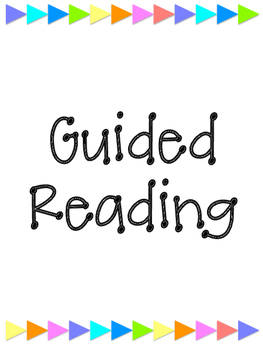 Guided Reading Notebook Covers