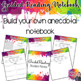 Guided Reading Notebook- Student Notes