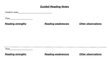 Guided Reading Notes