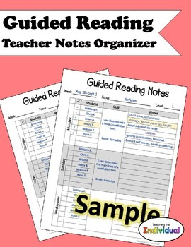 Guided Reading Notes Organizer