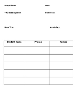 Guided Reading Notes Page