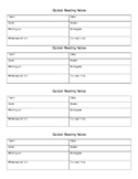 Guided Reading Notes Template