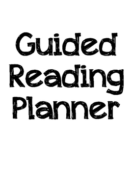 Guided Reading Notes or Planning Page